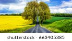 beautiful countryside of france.... | Shutterstock . vector #663405385
