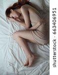 woman is sleeping  woman is... | Shutterstock . vector #663406951
