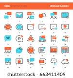 vector set of message bubbles... | Shutterstock .eps vector #663411409
