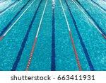 Top View Of Swimming Pool Lanes