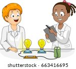 illustration of kids conducting ... | Shutterstock .eps vector #663416695