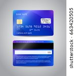 realistic detailed credit cards ... | Shutterstock .eps vector #663420505