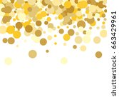 gold background. yellow and... | Shutterstock .eps vector #663429961