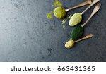 assorted organic green super...   Shutterstock . vector #663431365