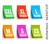 color clothing size labels | Shutterstock .eps vector #663437119