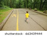 child violates the safety rules ... | Shutterstock . vector #663439444