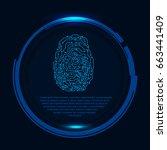 hud fingerprint scan interface...