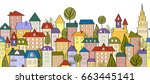 seamless banner background with ... | Shutterstock .eps vector #663445141