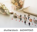 saving money concept with...   Shutterstock . vector #663449365