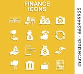 finance icons. vector concept... | Shutterstock .eps vector #663449935