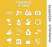 finance icons. vector concept... | Shutterstock .eps vector #663449935