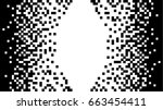 monochrome pixel art.  abstract ... | Shutterstock .eps vector #663454411