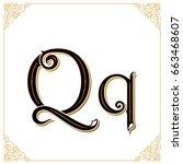 vector vintage font. letter and ...   Shutterstock .eps vector #663468607