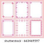 cute pink frames vector   Shutterstock .eps vector #663469597