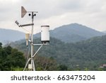 Weather Meter With Mountain...