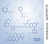 abstract molecules design.... | Shutterstock .eps vector #663478774