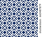 seamless pattern with symmetric ... | Shutterstock .eps vector #663487879