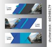 abstract vector web banner... | Shutterstock .eps vector #663488179