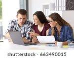 business team of entrepreneurs... | Shutterstock . vector #663490015