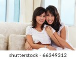 happy pose of mother and...   Shutterstock . vector #66349312