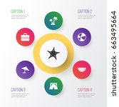 season icons set. collection of ... | Shutterstock .eps vector #663495664