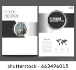silver abstract annual report... | Shutterstock .eps vector #663496015