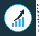 increasing diagram colorful... | Shutterstock .eps vector #663498199