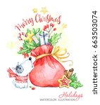 winter holidays illustration.... | Shutterstock . vector #663503074