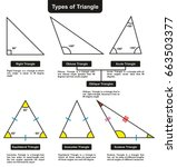different types of triangles... | Shutterstock .eps vector #663503377