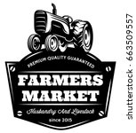 vector vintage tractor   Shutterstock .eps vector #663509557