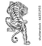 shaded asian tiger | Shutterstock .eps vector #66351955