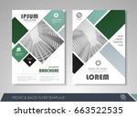 green annual report brochure... | Shutterstock .eps vector #663522535