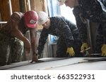 Us Navy Seabees And Sailors...