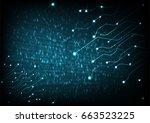vector abstract futuristic... | Shutterstock .eps vector #663523225
