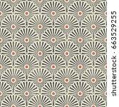 seamless japanese vintage... | Shutterstock .eps vector #663529255