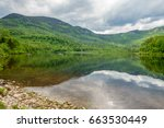 landscape of lake with... | Shutterstock . vector #663530449
