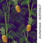 tropical seamless pattern with... | Shutterstock .eps vector #663533617