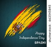 spain independence day... | Shutterstock .eps vector #663545845