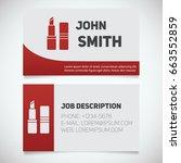 business card print template... | Shutterstock .eps vector #663552859