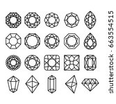diamond shapes set. vector... | Shutterstock .eps vector #663554515