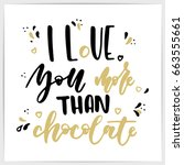 "hand lettering love quote ""i... 