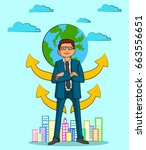 businessman character with... | Shutterstock .eps vector #663556651