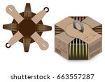 box design  container die... | Shutterstock .eps vector #663557287