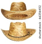 Yellow Wicker Straw Hat...