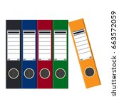 files  ring binders  colorful... | Shutterstock . vector #663572059