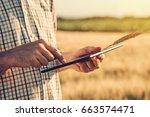 smart farming  using modern... | Shutterstock . vector #663574471