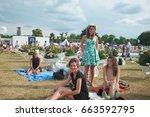 chantilly  france   june 14 ... | Shutterstock . vector #663592795