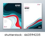 annual report cover design.... | Shutterstock .eps vector #663594235