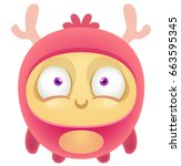 cartoon cute monster | Shutterstock .eps vector #663595345