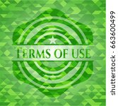 terms of use green emblem....